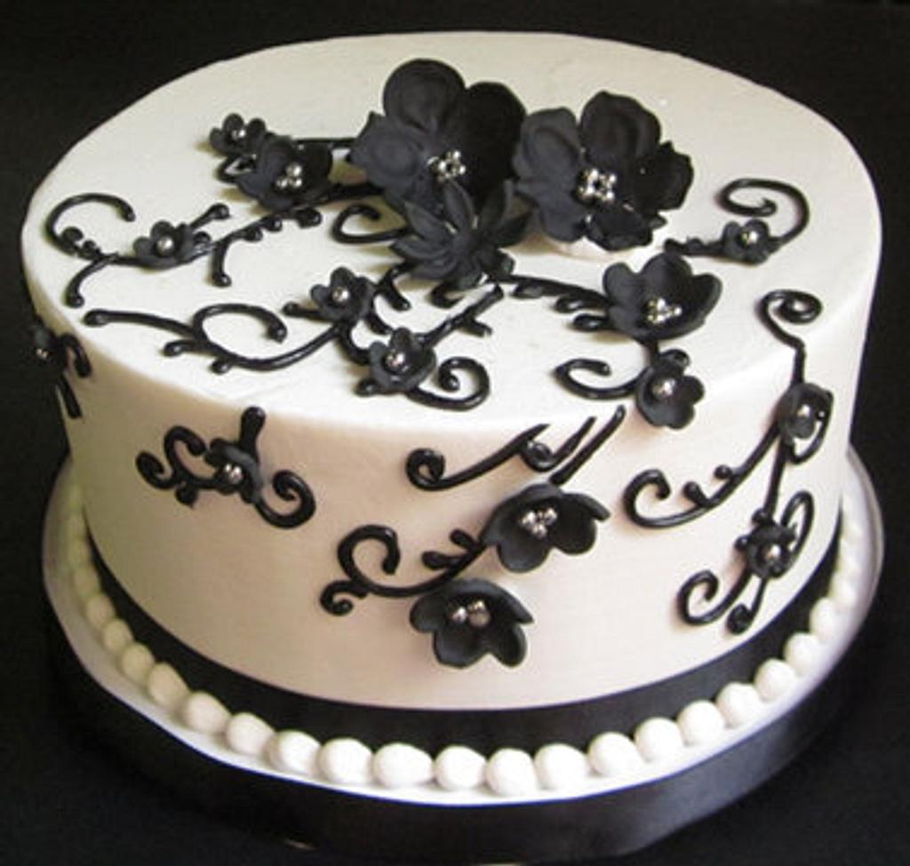 Black and silver bridal shower by Steel Penny Cakes, Elysia Smith