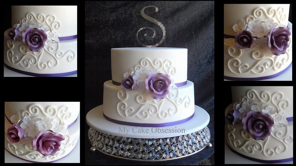 Emily's Wedding Cake by My Cake Obsession