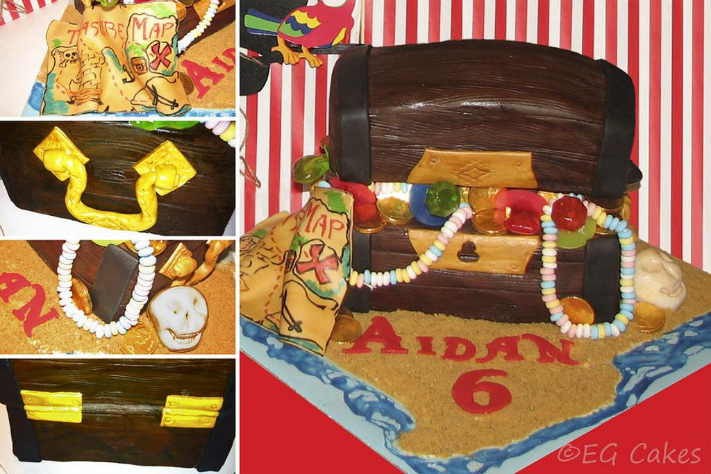 Pirate Treasure Chest Birthday Cake by EricaBlogs