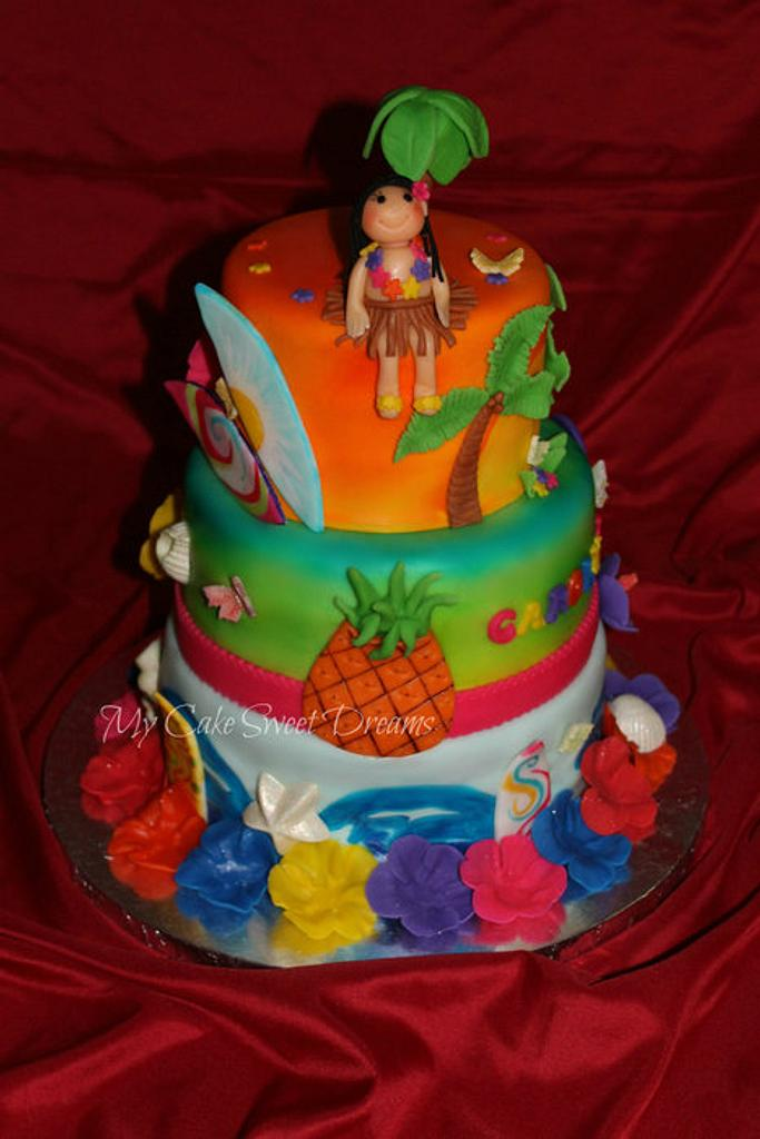 Luau Birthday Cake by My Cake Sweet Dreams