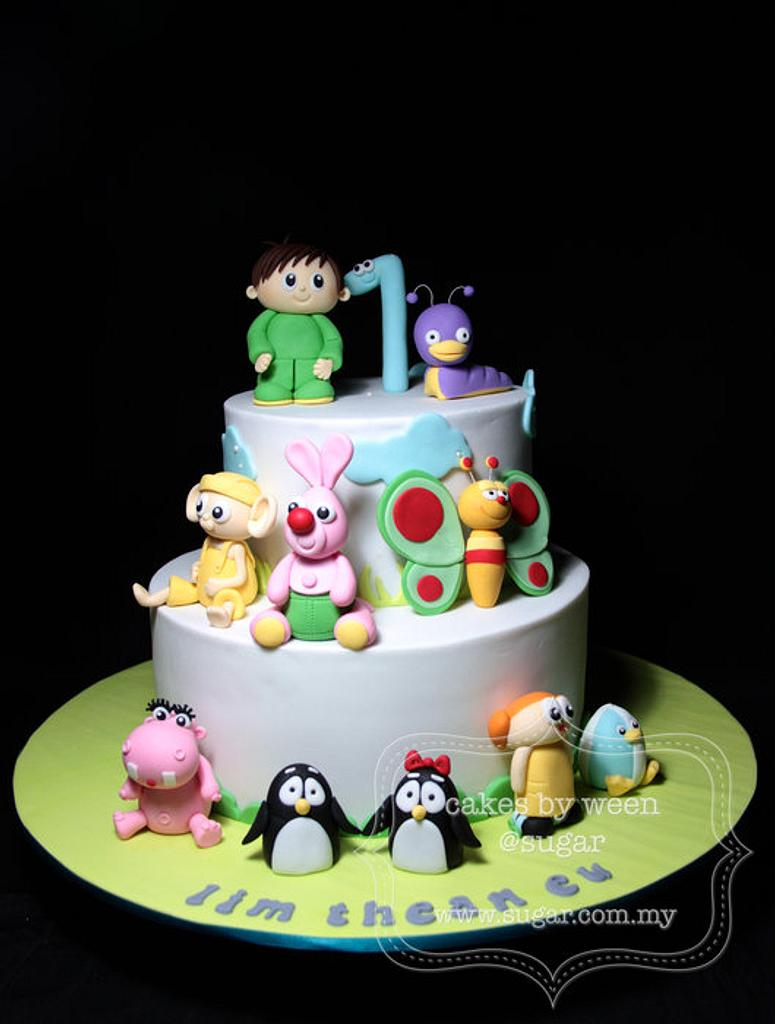 Baby TV Cake by weennee