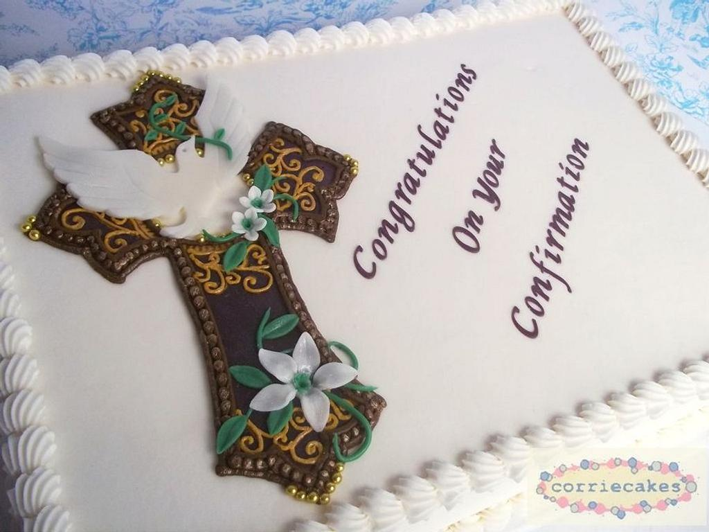 Confirmation Cake by Corrie