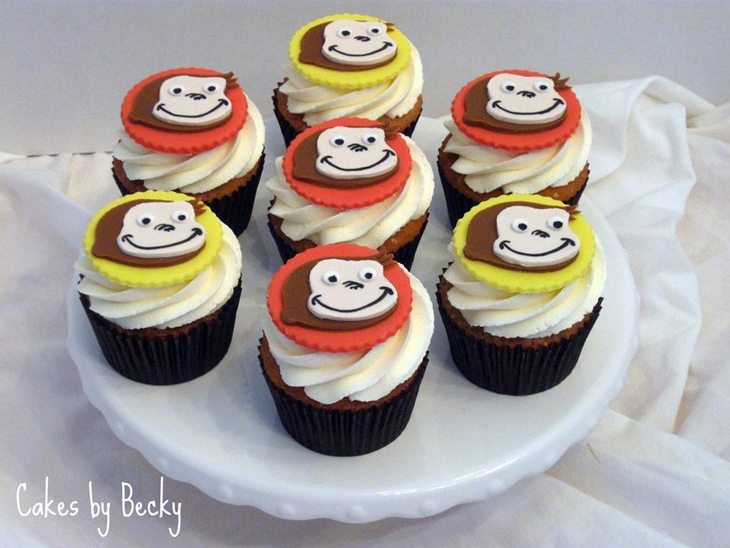 Curious George Cupcakes by Becky Pendergraft