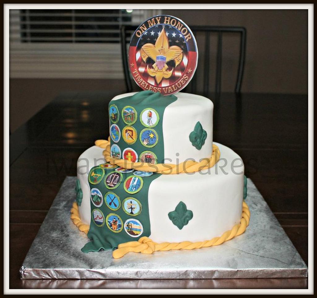 Boy Scouts cake by Jessica Chase Avila