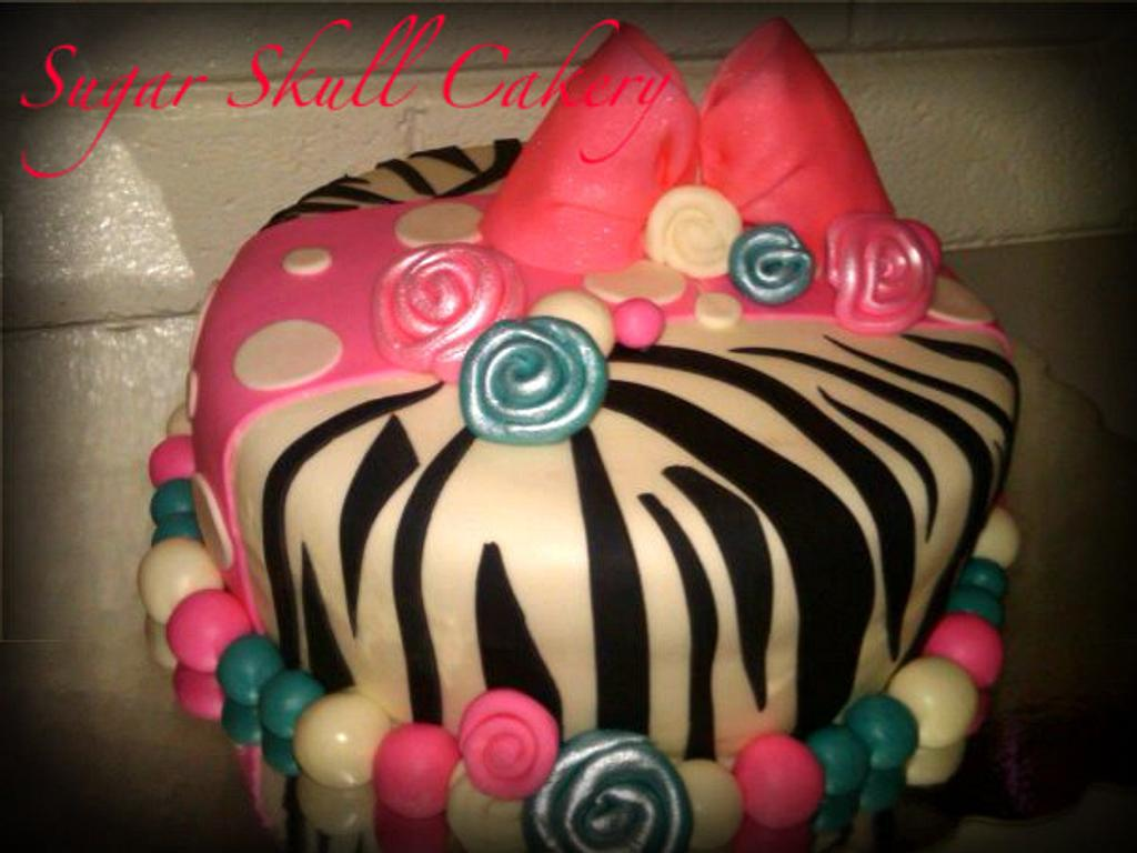 Lil' Diva Zebra Print Birthday Cake by Shey Jimenez
