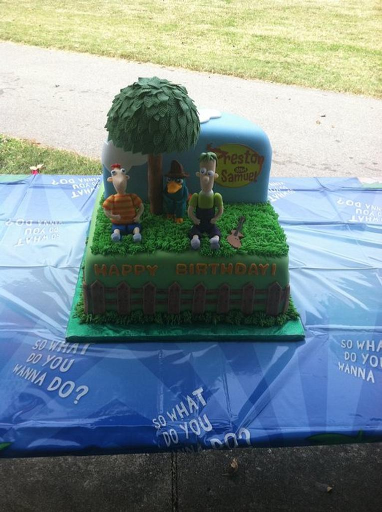 Phineas and Ferb Birthday cake by Tetyana