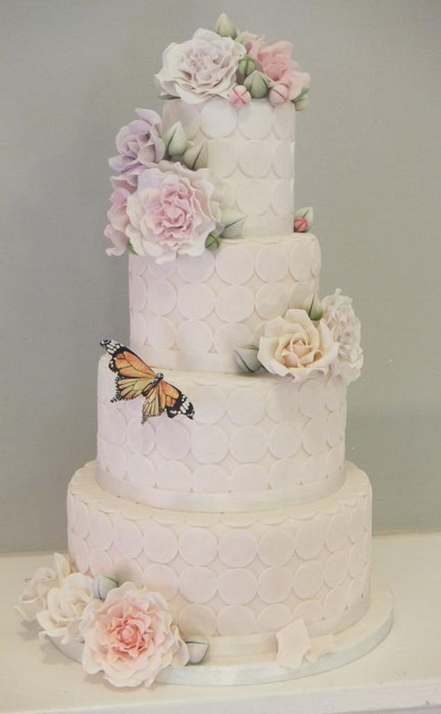 Spring themed wedding cake by Sugar Spice