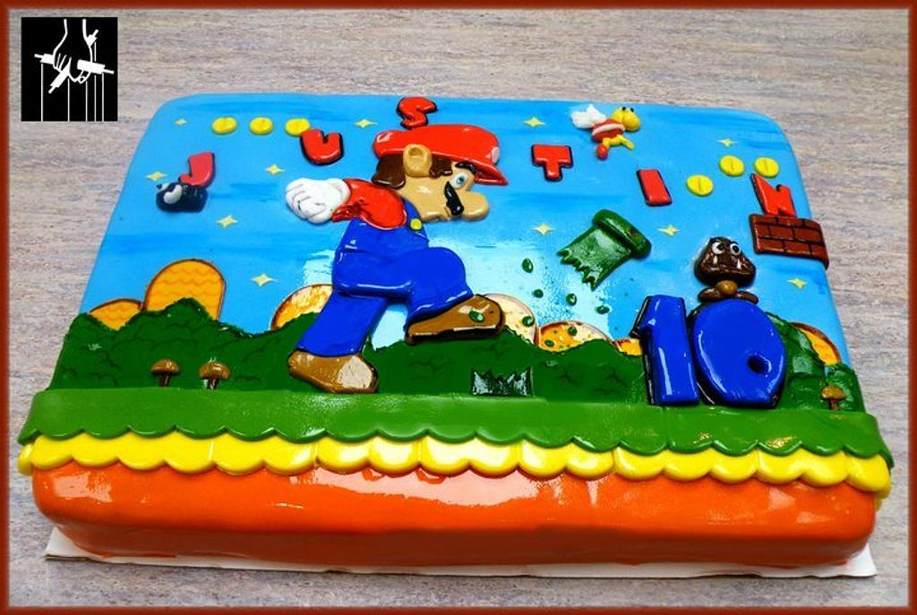 THE SUPER MARIO 10th BIRTHDAY CAKE by TheCakeDon