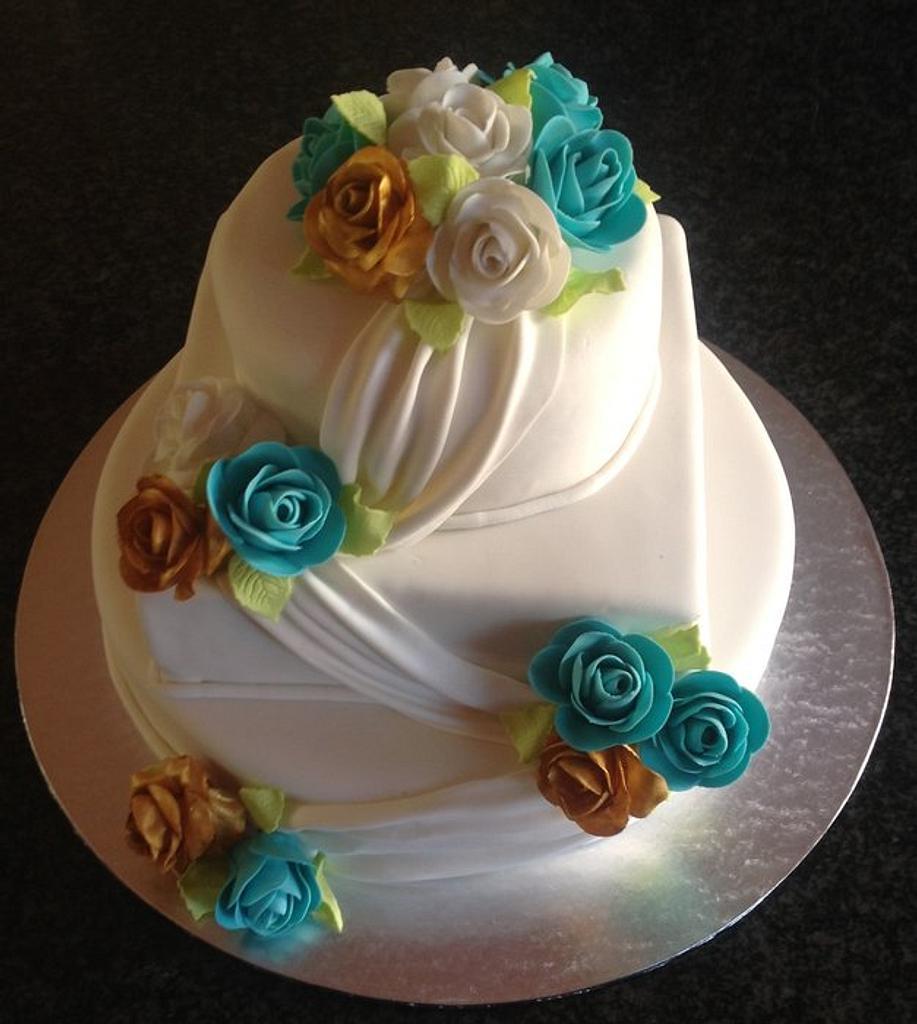 Wedding Anniversary Cake by Koek Krummels