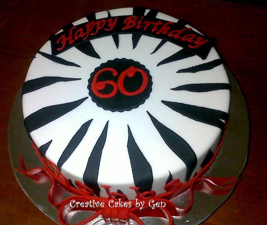Zebra themed Cake by Gen