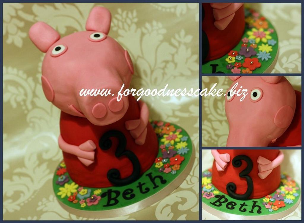 Peppa Pig by Forgoodnesscake