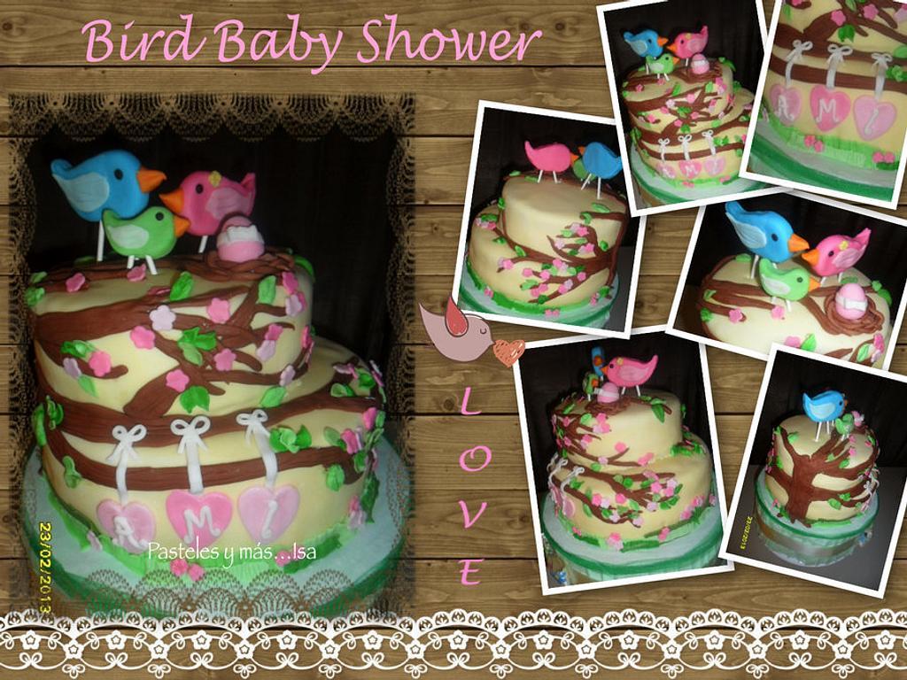 BIRD BABY SHOWER CAKE by Pastelesymás Isa
