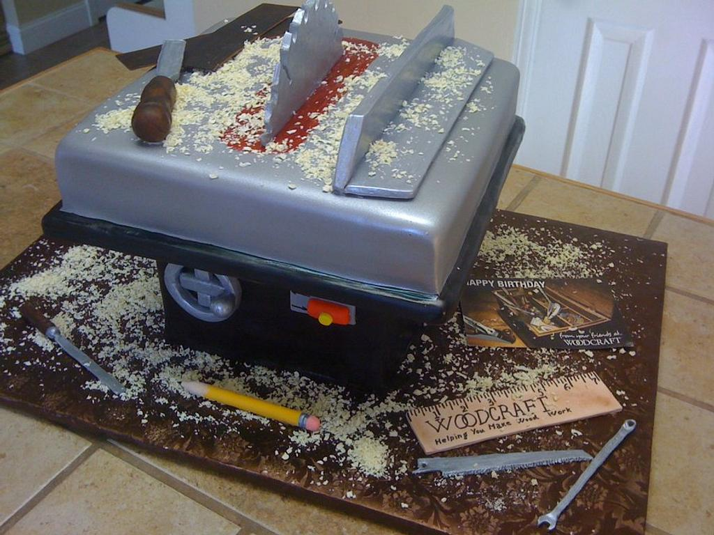 Tablesaw cake by Tetyana