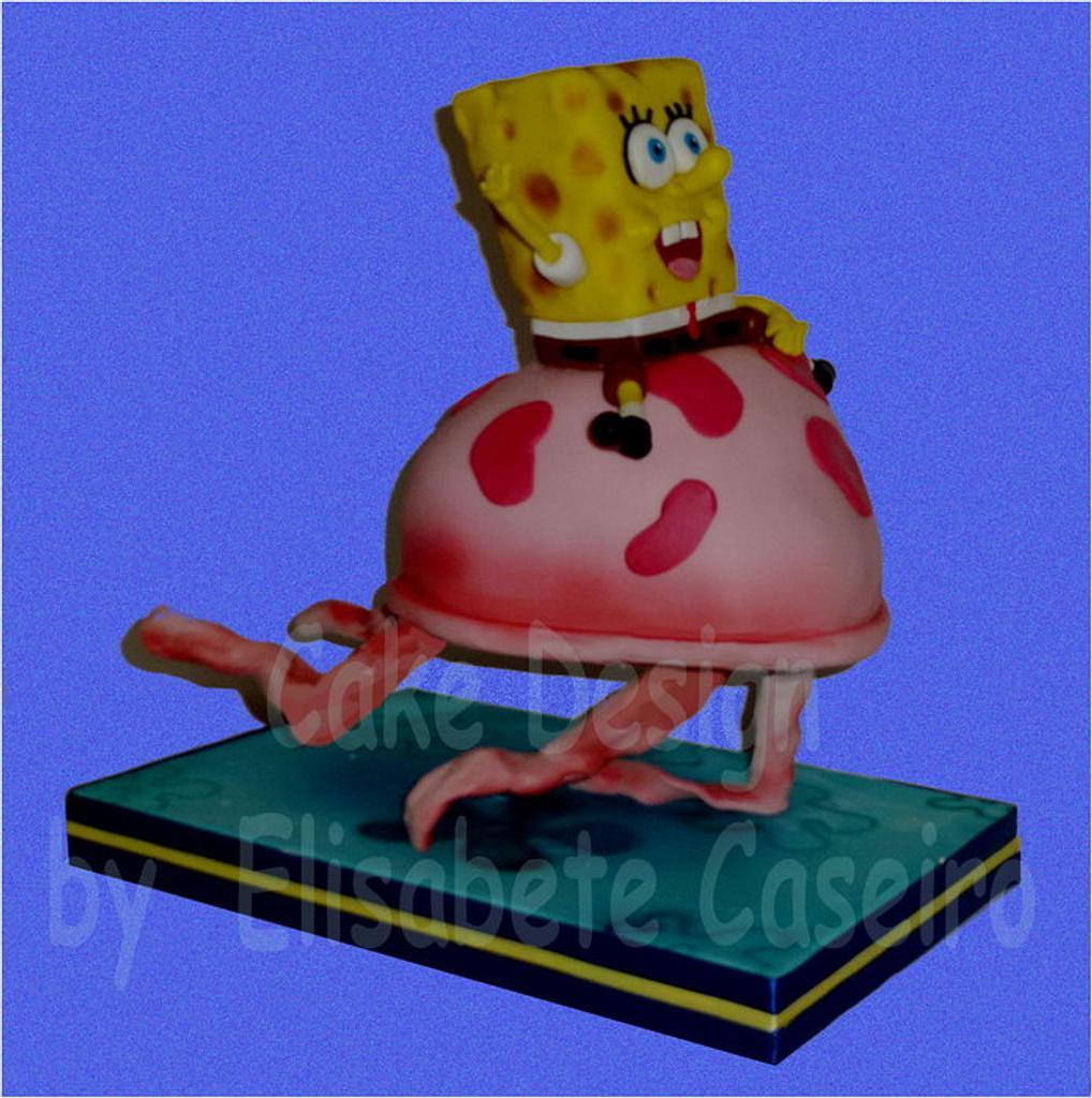 Floating Sponge Bob by Bety'Sugarland by Elisabete Caseiro