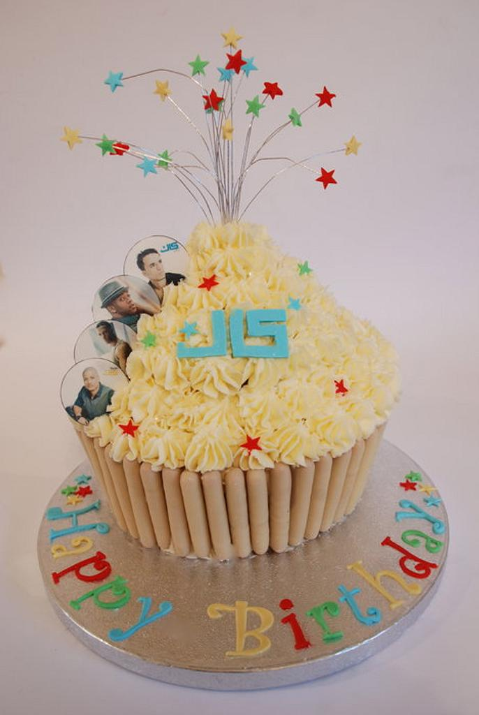 JLS Giant Cupcake by Gill Earle