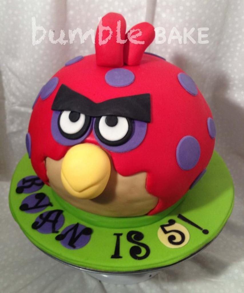 Angry Bird Cake by BumbleBake