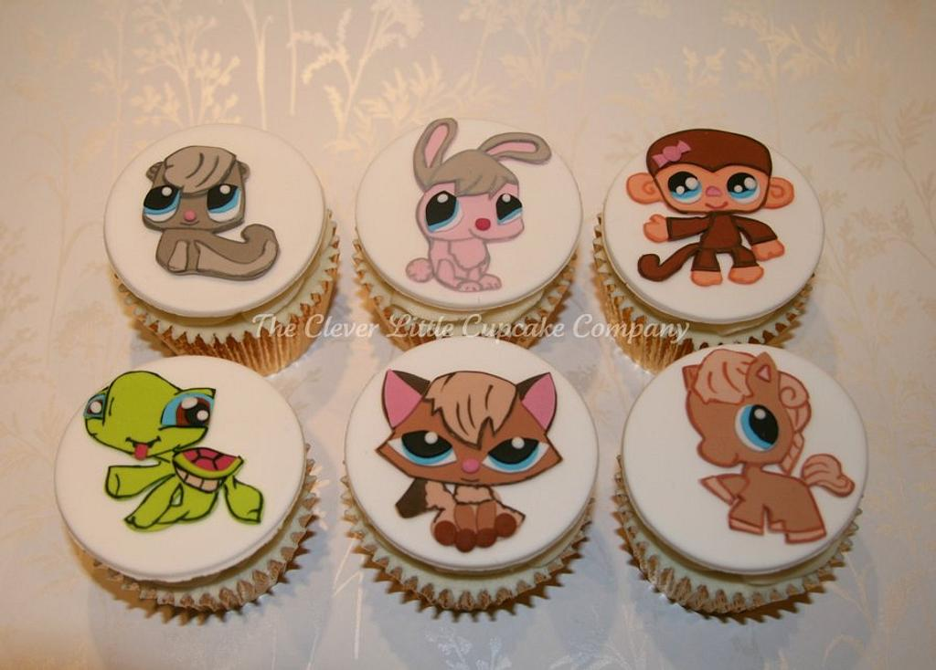 Littlest Pet Shop Cupcakes by Amanda's Little Cake Boutique