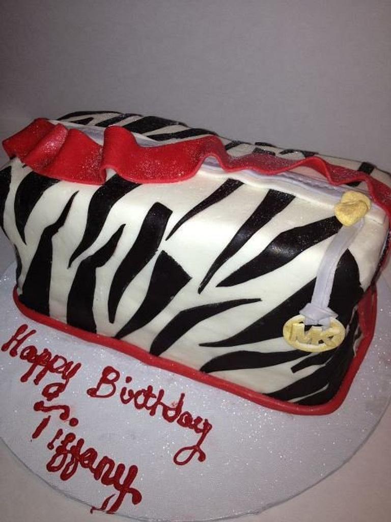 Zebra MK handbag by tasteeconfections