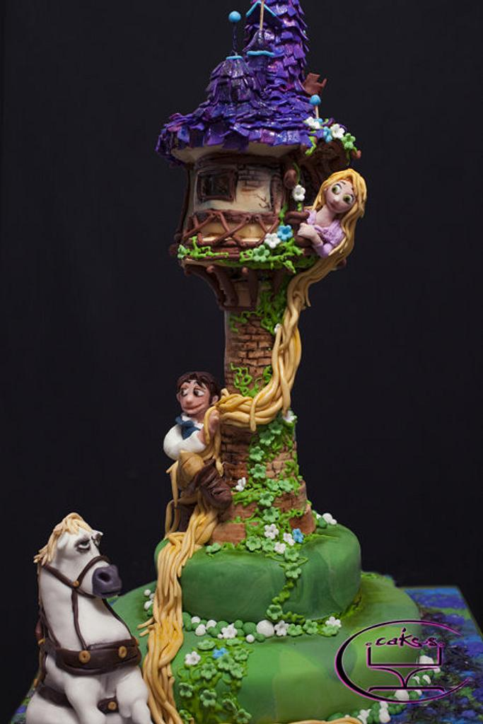Tangled-Themed cake for Icing Smiles, Inc.  by Komel Crowley