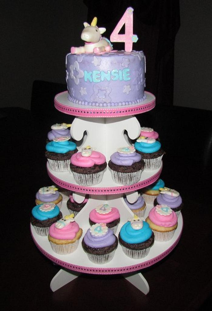 Enchanted Unicorn Cupcake Tower by Jaybugs_Sweet_Shop