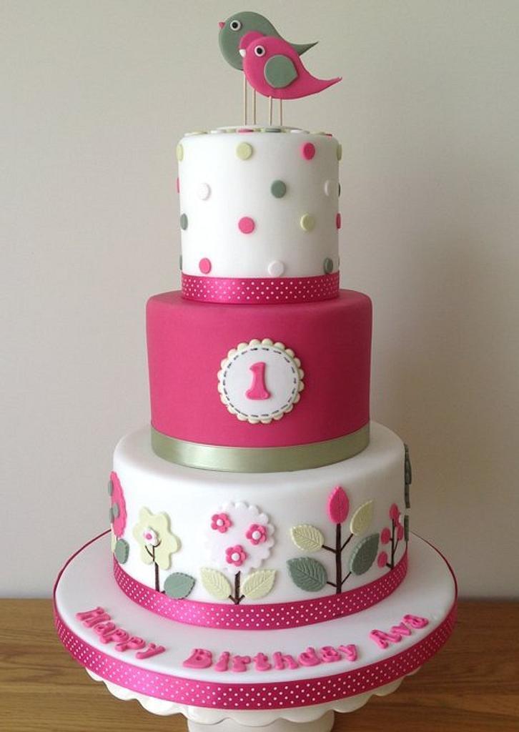 1st Birthday Cake by ACupfulofCakes