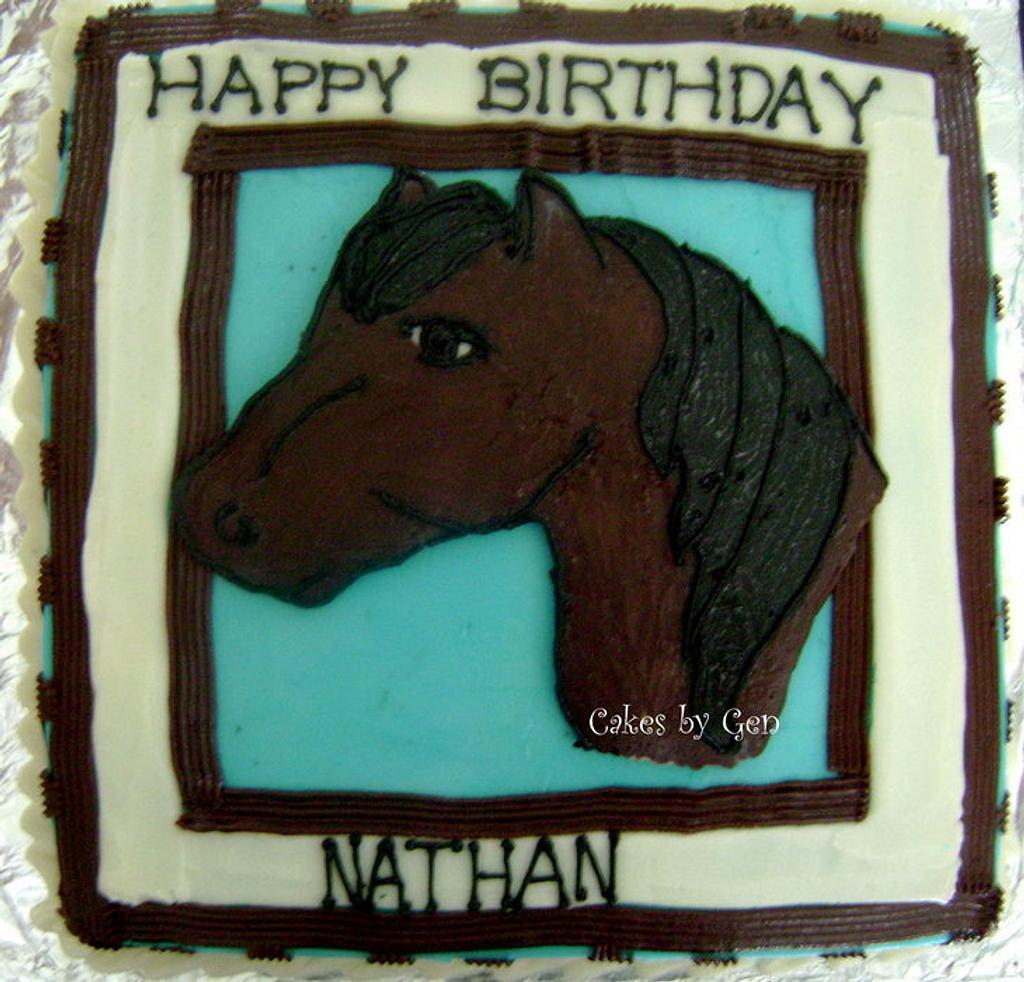 Horse cake- my first FBCT by Gen