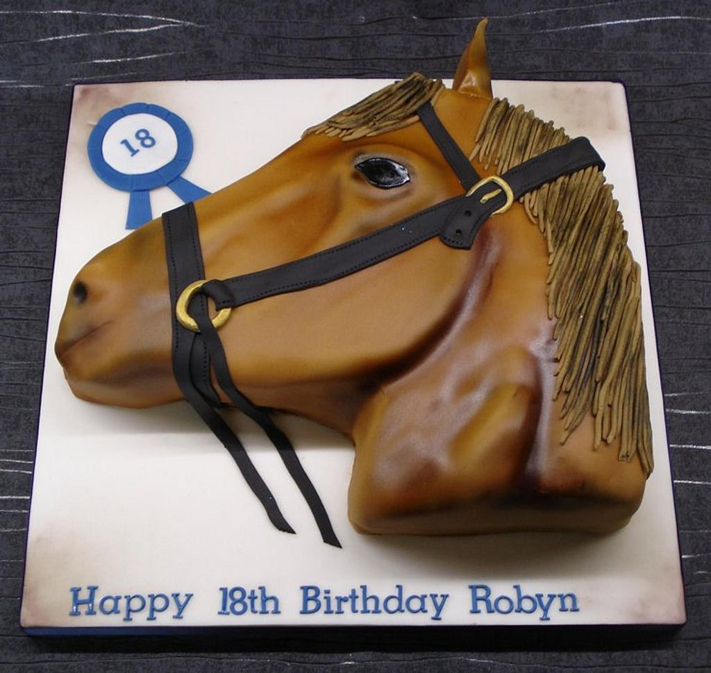Horse head cake by That Cake Lady
