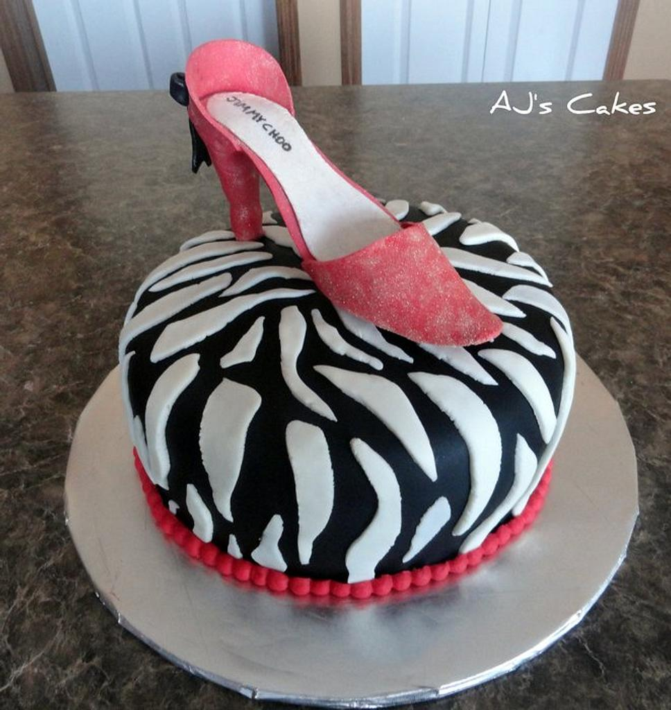 Red Shoe Cake by Amanda Reinsbach