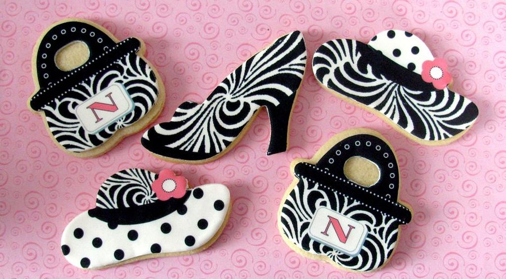 Black & White Fashion Cookies by Cheryl