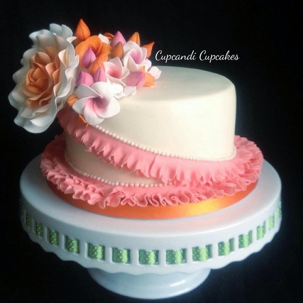 Tropical pretty petal cake by Cupcandi Cupcakes
