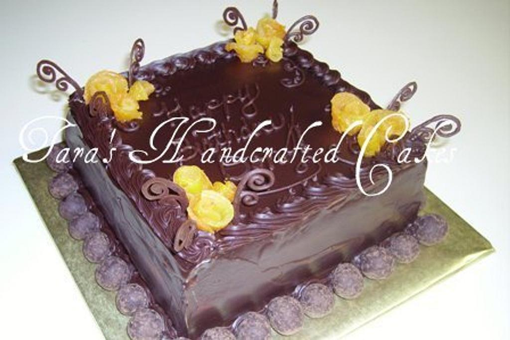chocolate apricot by Taras Handcrafted Cakes