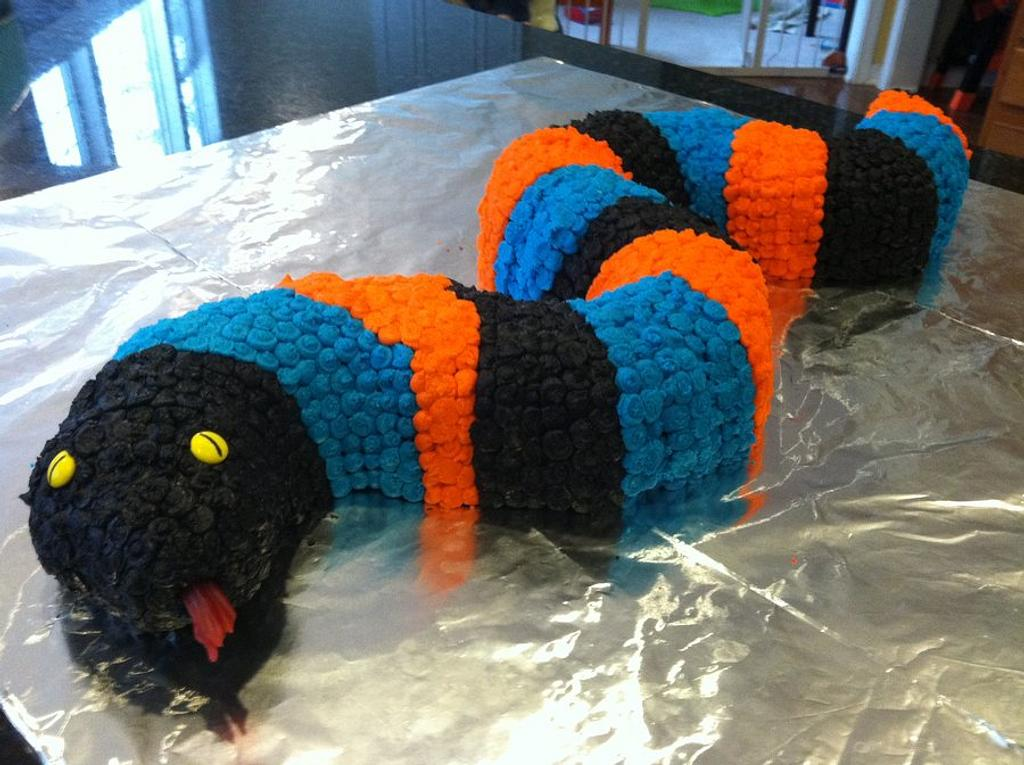 Hudson's Snake Cake by Susan at The Weekly Sweet Experiment