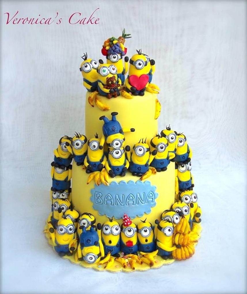 Minion cake by Veronica22