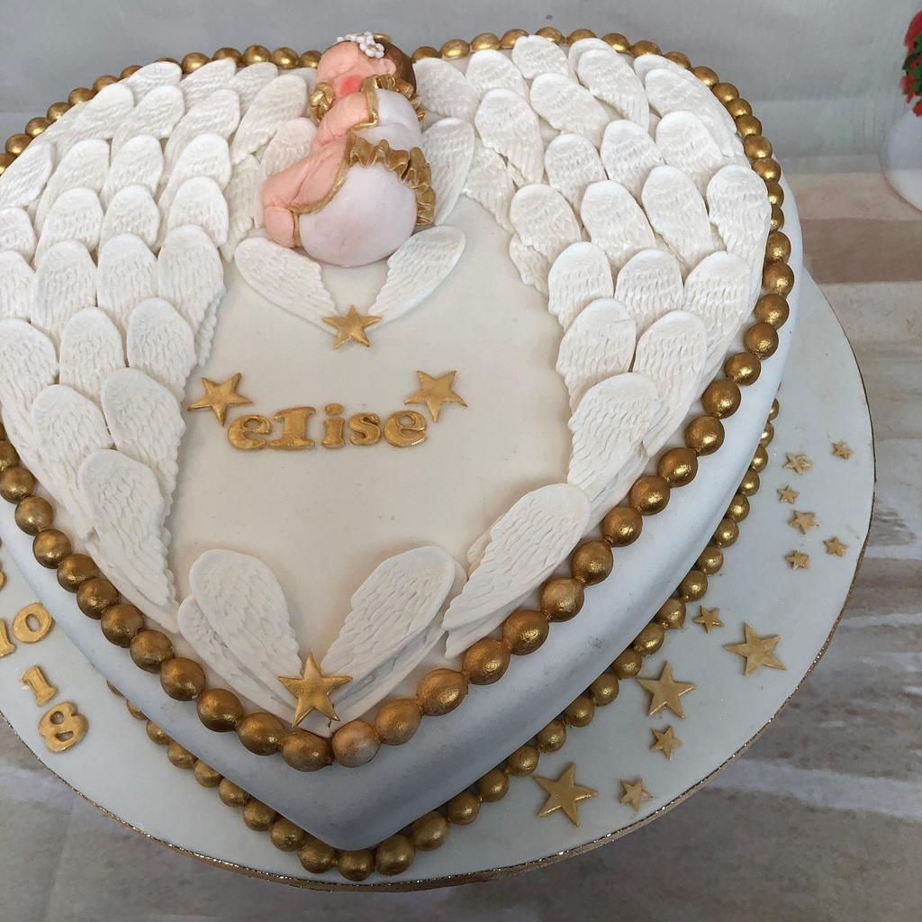 Angel Cake for a Baptisme by Greet