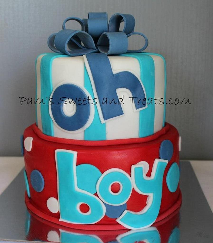 Boy Baby Shower Cake by Pam