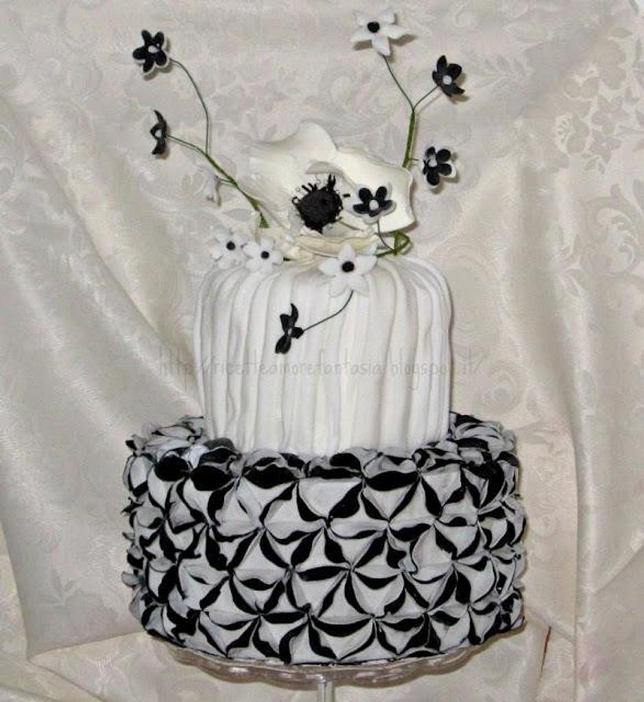 black and white cake by Gabriella Luongo