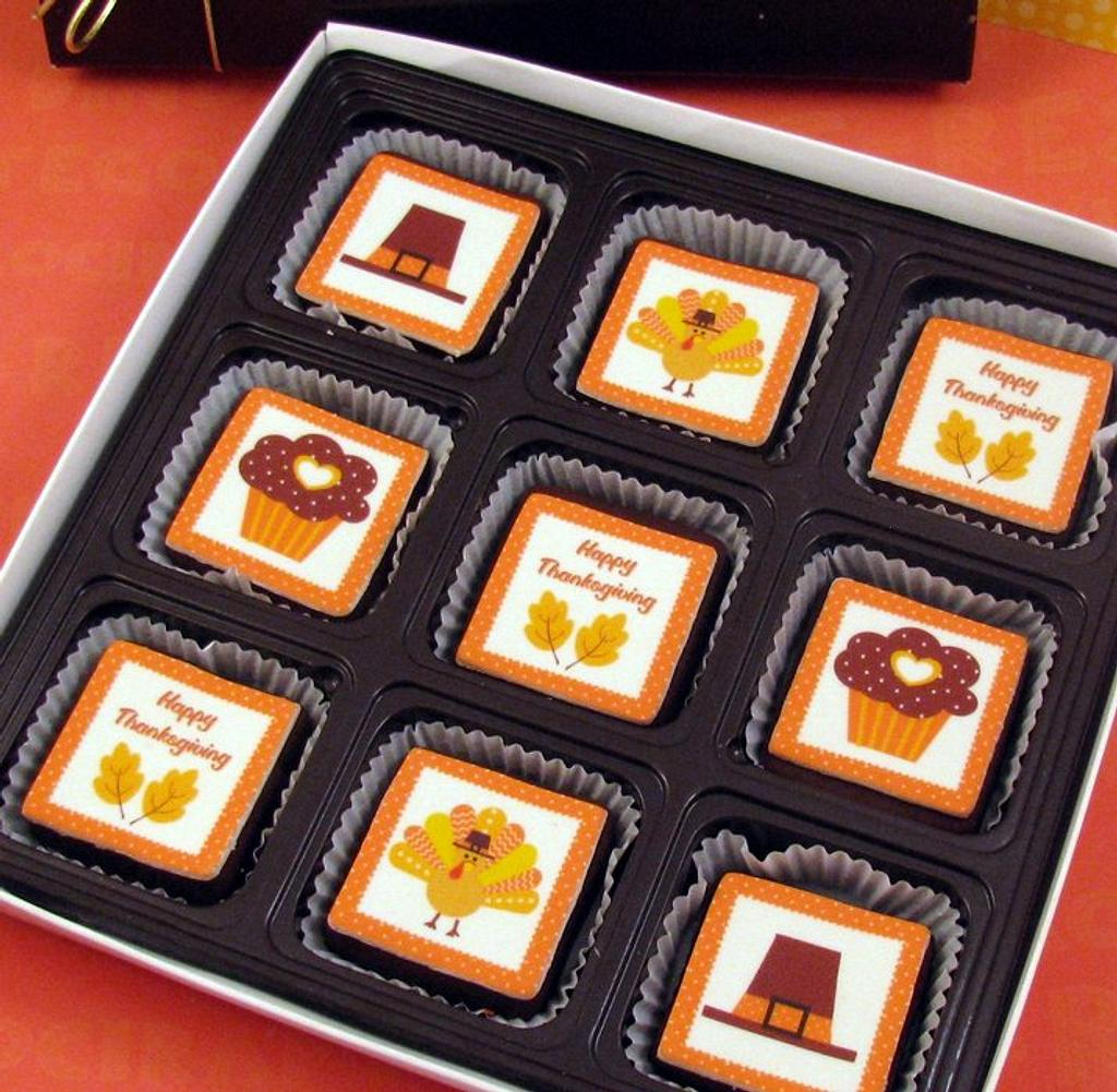 Thanksgiving Brownie Bites Gift Box by Cheryl