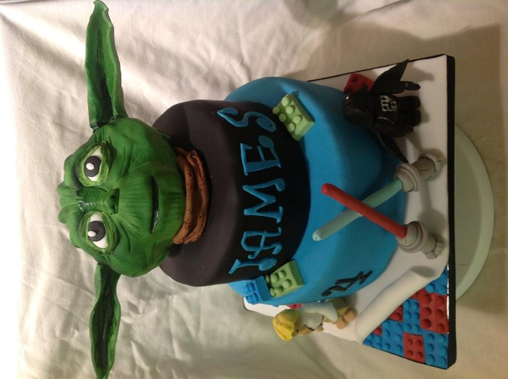 Star Wars/lego cake by Louise Hayes