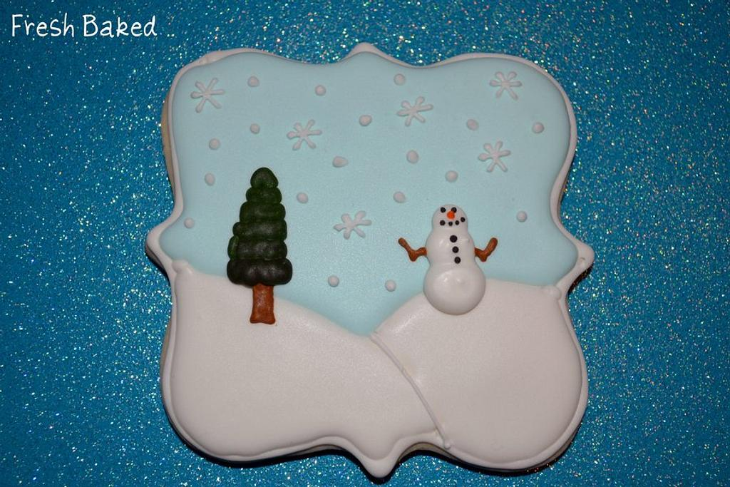 Winter scene cookie by Jamie Dixon