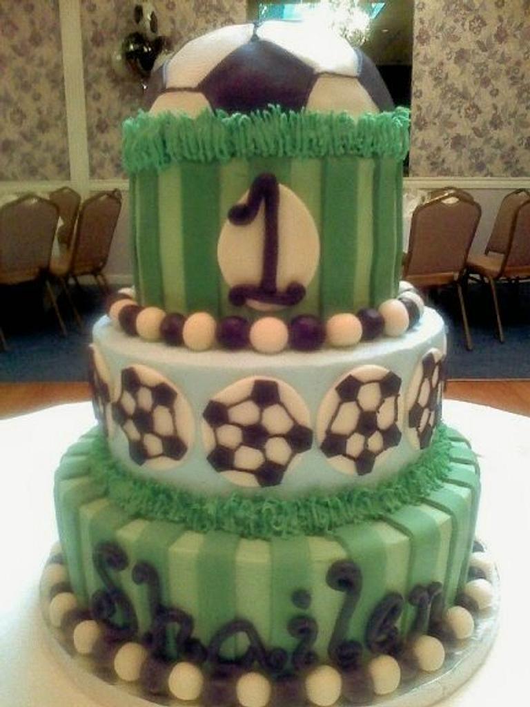 Soccer Ball Cake by Kristi