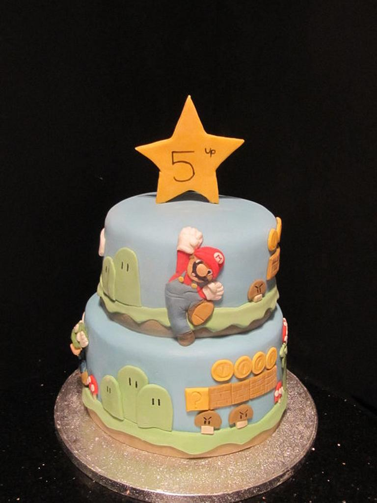 mario cake  by d and k creative cakes