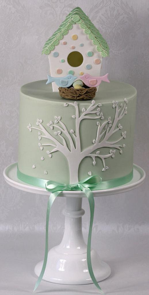 Bird Box Baby Shower Cake by kingfisher