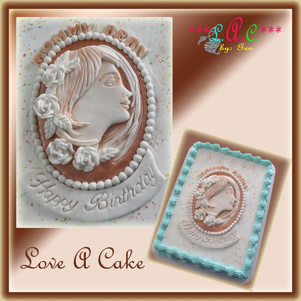 Cameo Cake Top by genzLoveACake