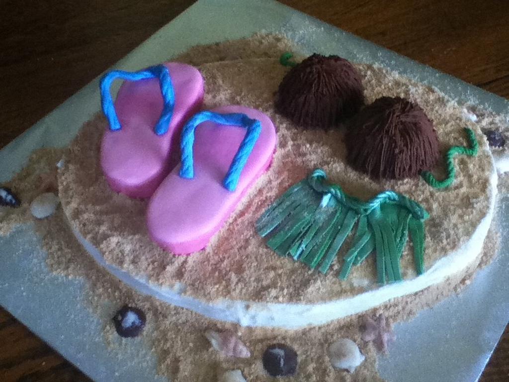 Beach Cake by sugardipped