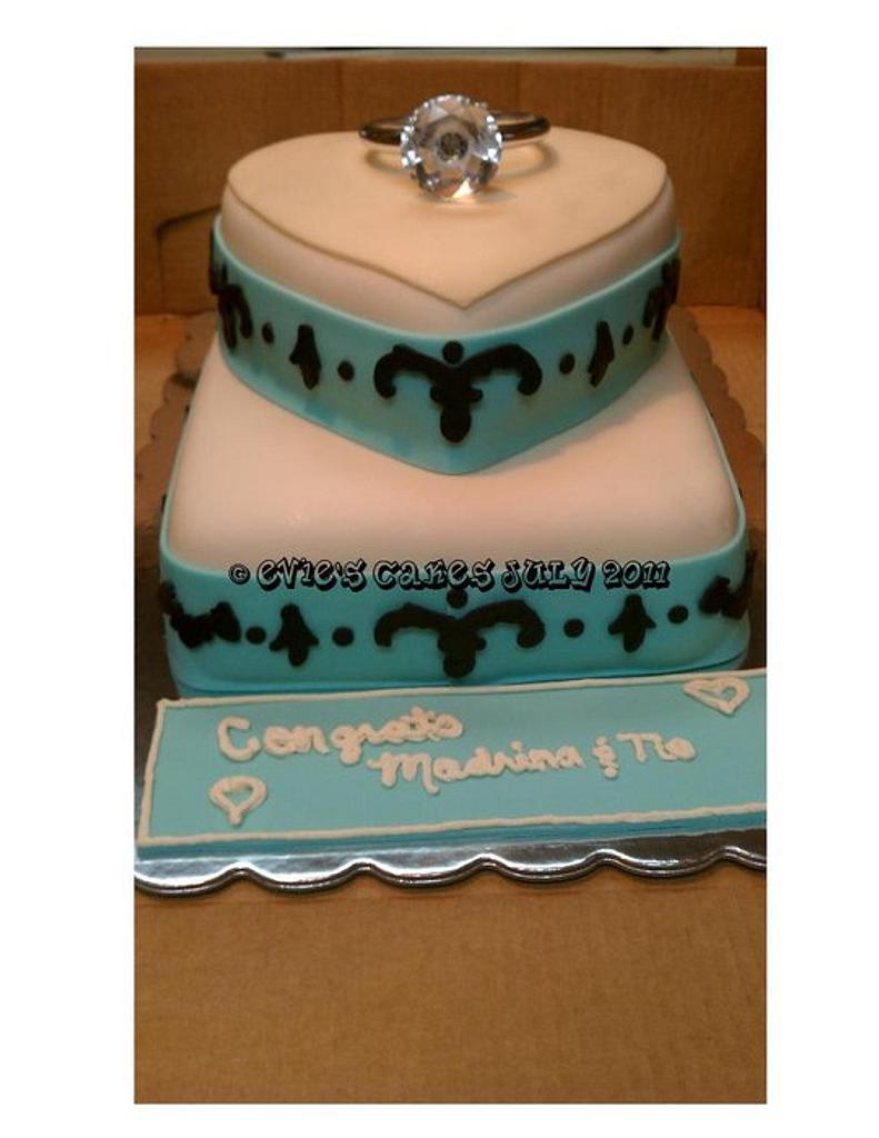 Surprise Engagement Cake by BlueFairyConfections