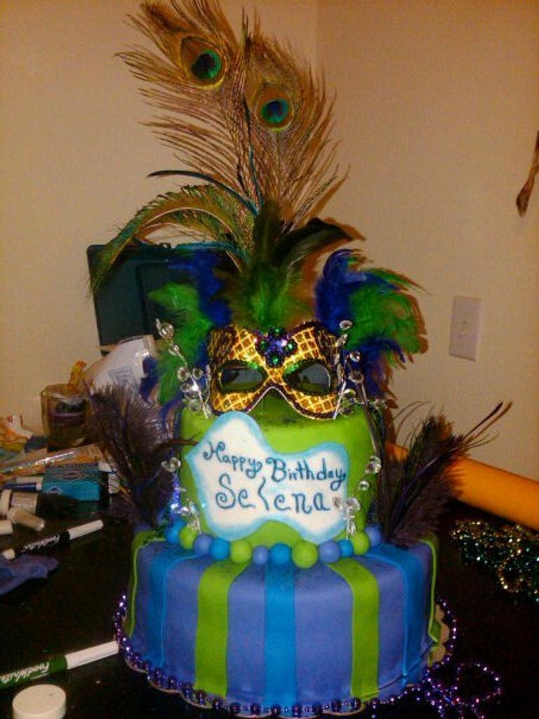 mardi gras cake by claribely trinidad