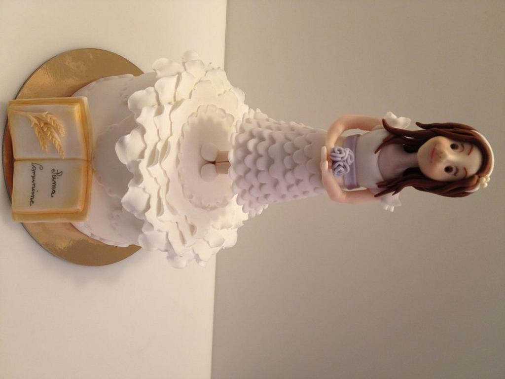 First communion cake by valendast