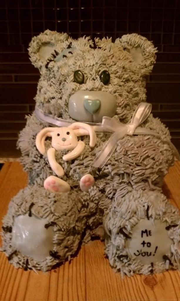 bear cake copied from bake a boo bear by Paula