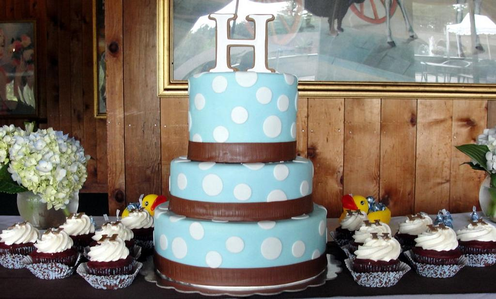 Brown and Blue Baby Shower by pastrychefjodi