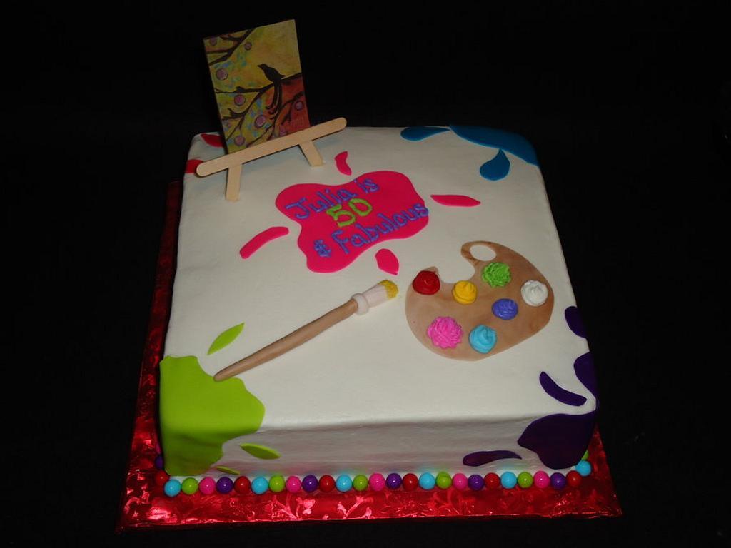 Art Party Cake by Kim Leatherwood